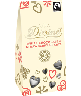 Image of White Chocolate & Strawberry Hearts Packaging