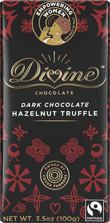 Image of Dark Chocolate with Hazelnut Truffle Packaging