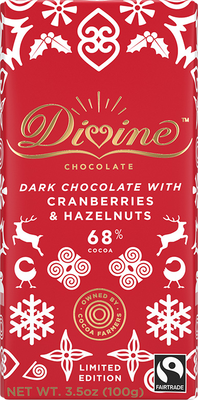 Image of Limited Edition Dark Chocolate with Hazelnuts and Cranberries Packaging
