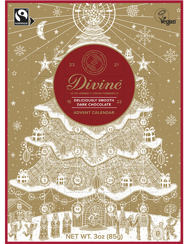 Image of Dark Chocolate Advent Calendar Packaging