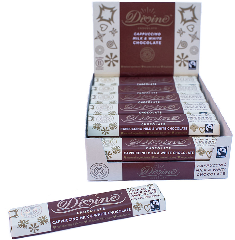 Image of Milk & White Chocolate Cappuccino Snack Bar Packaging
