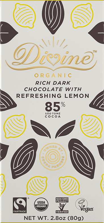 Image of 85% Dark Chocolate with Refreshing Lemon Packaging