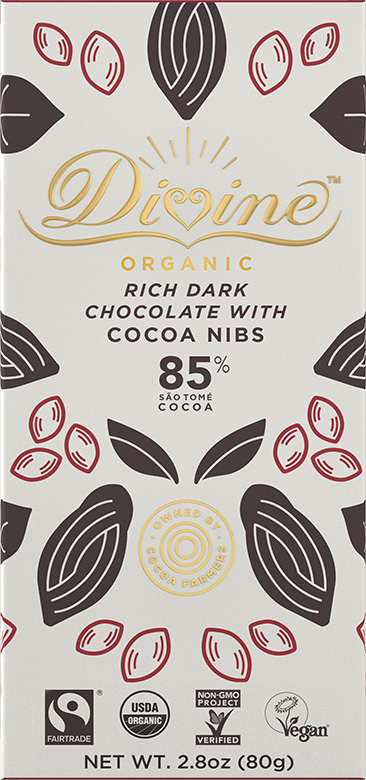 Image of 85% Dark Chocolate with Cocoa Nibs Packaging