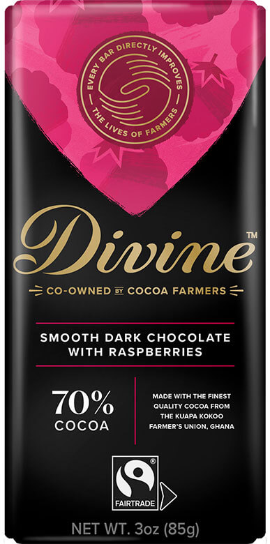 Image of 70% Dark Chocolate with Raspberries Packaging