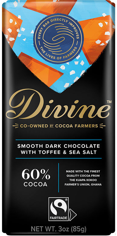 Image of 60% Dark Chocolate with Toffee & Sea Salt Packaging