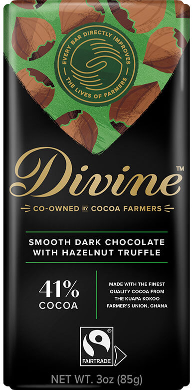 Image of Dark Chocolate Hazelnut Truffle Packaging