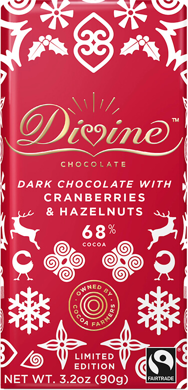 Image of Limited Edition Dark Chocolate with Cranberries & Hazelnuts Packaging
