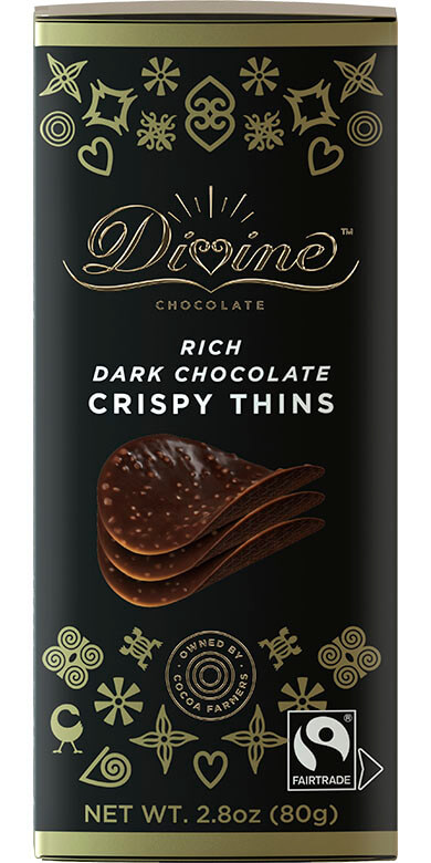 Image of Dark Chocolate Crispy Thins Packaging