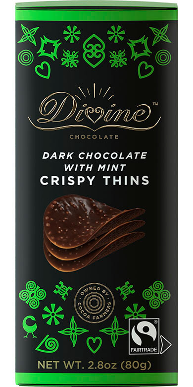 Image of Dark Chocolate w/ Mint Crispy Thins Packaging