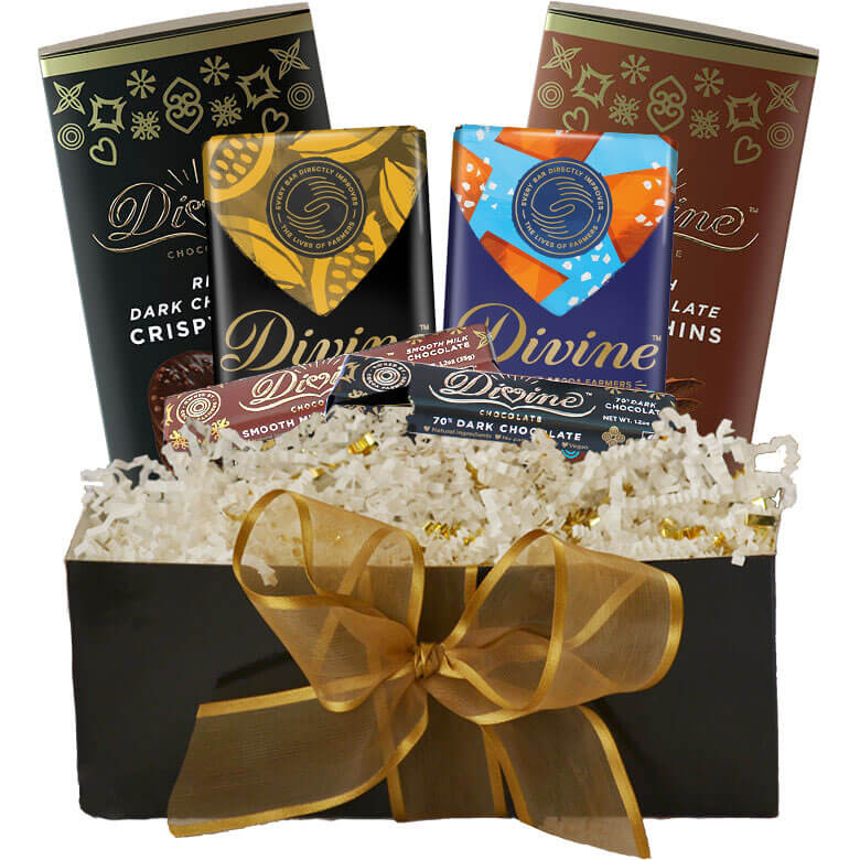 Image of Milk and Dark Chocolate Crispy Thins Gift Set Packaging
