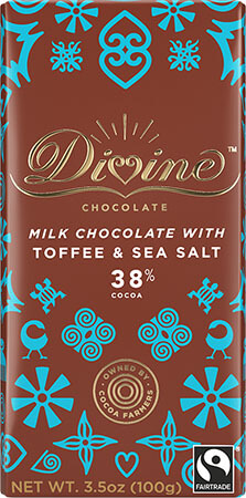 38% Milk Chocolate with Toffee and Sea Salt - Click for more information, or use your TAB key to go to purchase options