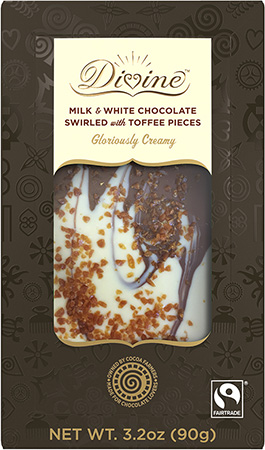 Click to buy Milk & White Chocolate Swirled with Toffee Pieces