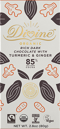 Click to buy 85% Dark Chocolate With Turmeric & Ginger