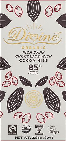 Click to buy 85% Dark Chocolate with Cocoa Nibs