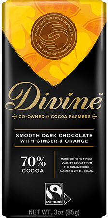 image of 70% Dark Chocolate with Ginger & Orange