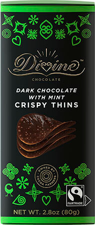 Dark Chocolate w/ Mint Crispy Thins - Click for more information, or use your TAB key to go to purchase options